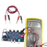 2Pcs Multimeter Electronic Test Lead Wire Test Hooks Clip Grabber Black+Red