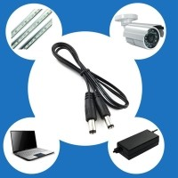 1M DC Power 5.5mm x 2.1mm Male Plug Connector Extension Cord Cable 39''