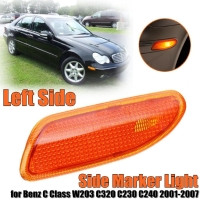 Left Side Marker In Bumper Turn Signal Light for Benz W203 C-Class 01-07 Yellow